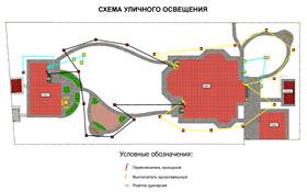 Схема освещения газона
