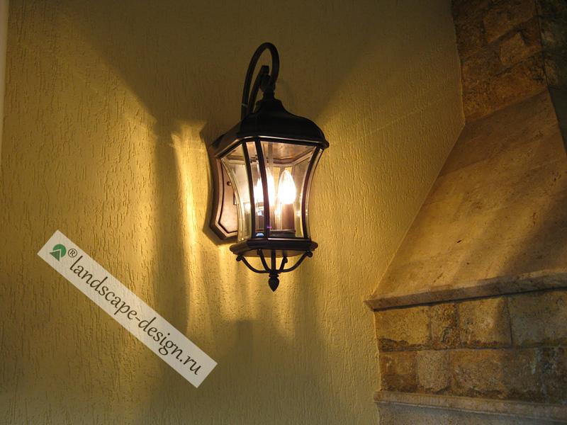 Фото светильник в беседку